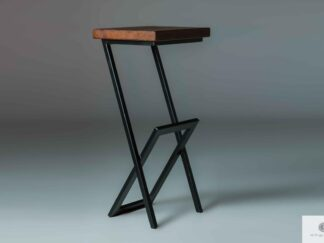Barstool metal-wood to kitchen dining room HUGON find us on https://www.facebook.com/RaWoodpl/