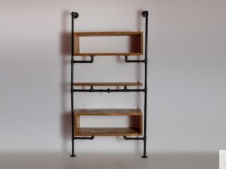 Modular shelving unit of solid wood to living room DENAR find us on https://www.facebook.com/RaWoodpl/