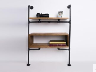Modular bookshelf of solid wood to living room DENAR find us on https://www.facebook.com/RaWoodpl/