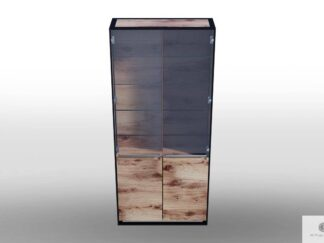 Glass cabinet of solid wood to living room IBSEN find us on https://www.facebook.com/RaWoodpl/