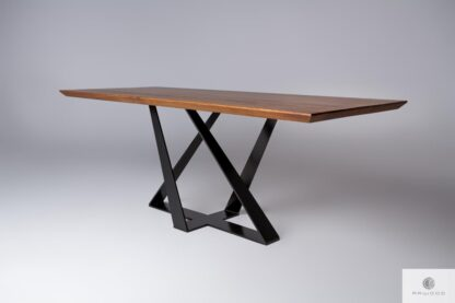 Table with oak tabletop BORNEO find us on https://www.facebook.com/RaWoodpl/