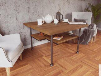 Drewniany stolik kawowy do salonu DENAR
