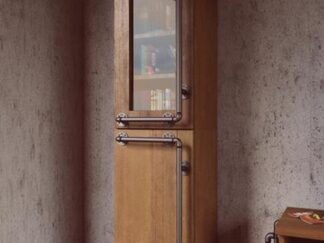 Industrialna witryna z litego drewna sosnowego do salonu DENAR