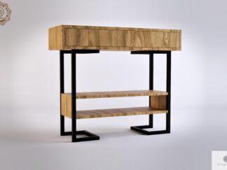 Nowoczesna konsola stolik pomocnik debowy OLIMPIA