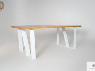 Stol debowy skandynawski z drewna litego do jadalni ELEGANT