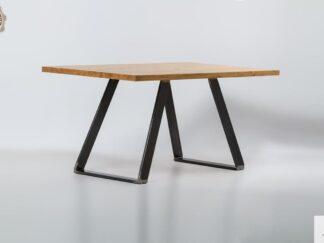 Stol z litego drewna debowego do jadalni i salonu CALLA