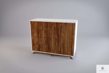 Modern wooden chest of drawers with fronts of old solid wood BERGEN find us on https://www.facebook.com/RaWoodpl/