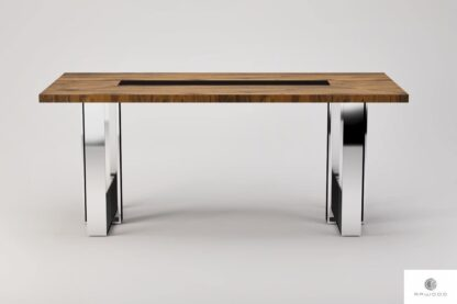 Modern table of oak solid wood to dining room living room MOCCA find us on https://www.facebook.com/RaWoodpl/