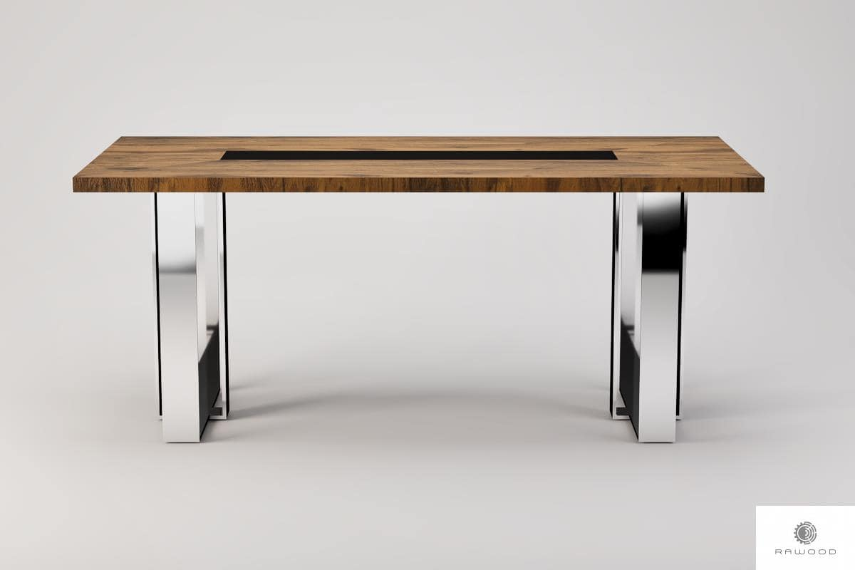 Modern table of oak solid wood to dining room living room MOCCA