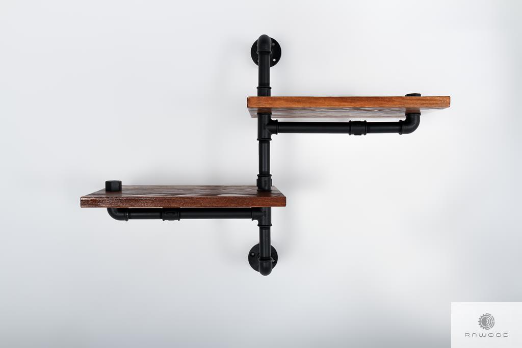 Solid wood shelf for living room DENAR find us on https://www.facebook.com/RaWoodpl/