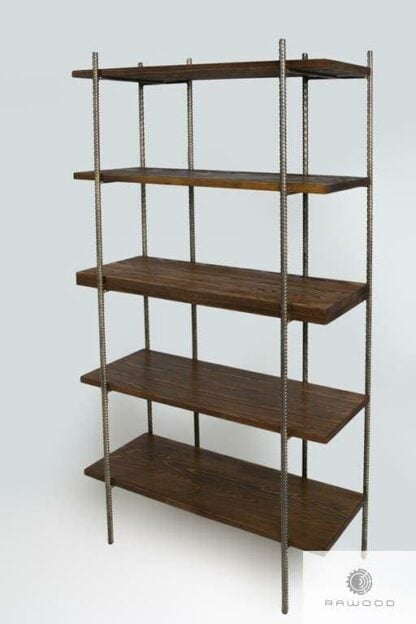 Bookcase of solid wood to office living room HEGEL find us on https://www.facebook.com/RaWoodpl/