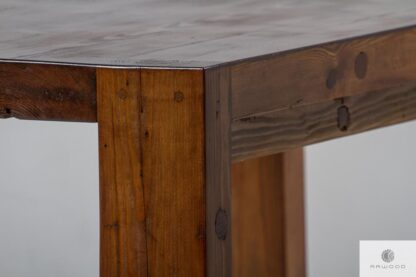 Rustic table of old wood to dining room DRACO find us on https://www.facebook.com/RaWoodpl/