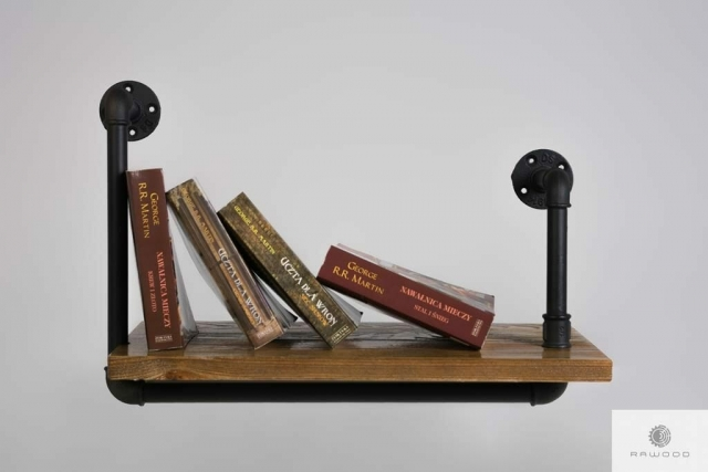Wall shelf of solid wood to living room DENAR find us on https://www.facebook.com/RaWoodpl/