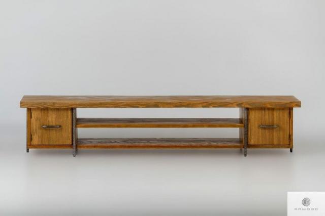 Wooden rustic TV cabinet to living room HEGEL find us on https://www.facebook.com/RaWoodpl/