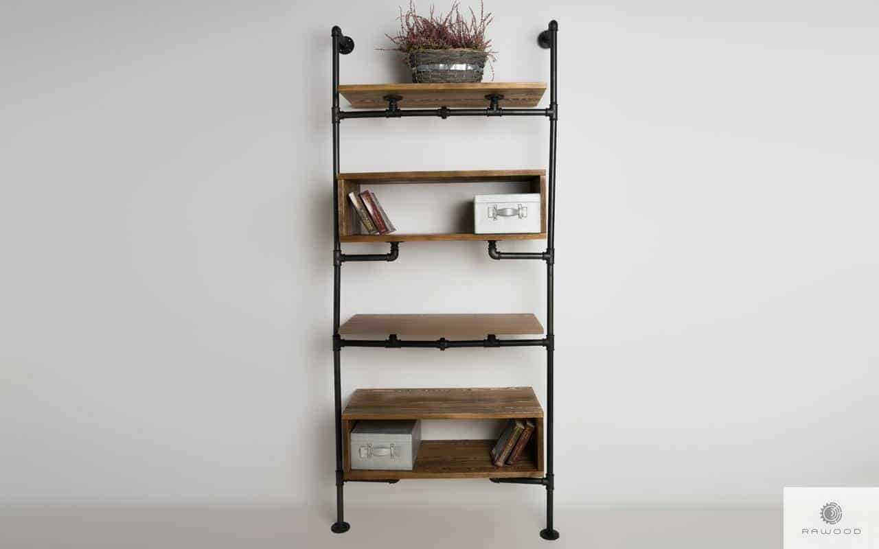Shelving unit of solid wood to living room office DENAR find us on https://www.facebook.com/RaWoodpl/