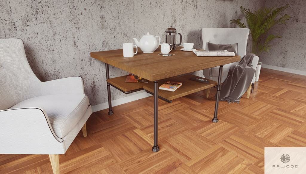 Wooden coffee table to living room DENAR find us on https://www.facebook.com/RaWoodpl/