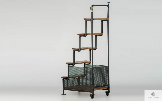 Ladder of pipes and solid wood DENAR find us on https://www.facebook.com/RaWoodpl/