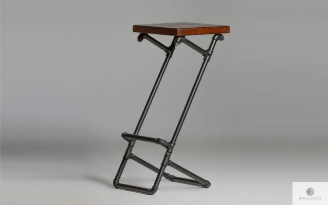 Modern wooden barstool on metal leg DENAR find us on https://www.facebook.com/RaWoodpl/