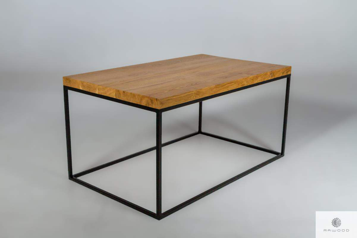 Industrial coffee table made of oak wood for living room find us on https://www.facebook.com/RaWoodpl/