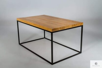 Industrial coffee table of oak wood to living room find us on https://www.facebook.com/RaWoodpl/