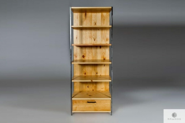 Industrial bookcase of solid wood find us on https://www.facebook.com/RaWoodpl/