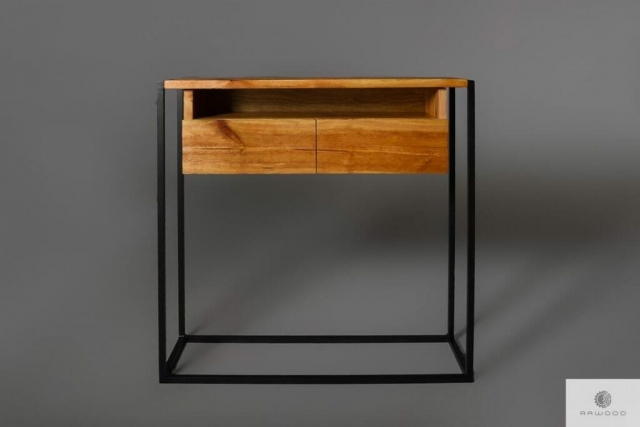 Console loft cabinet of old solid wood find us on https://www.facebook.com/RaWoodpl/