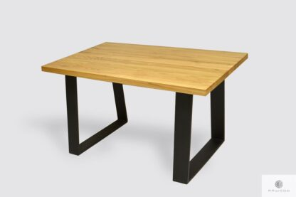 Oak table on steel legs to dining room SERSO Tables Manufacturer RaWood Premium Furniture