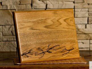 Deska do krojenia z ozdobnym wypalaniem do kuchni