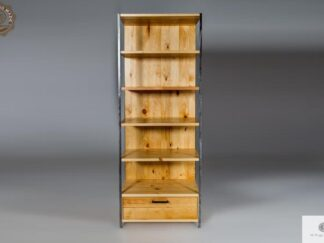 Industrial bookcase of solid pine wood find us on https://www.facebook.com/RaWoodpl/