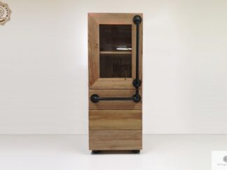 Industrial bookcase of solid wood to living room DENAR find us on https://www.facebook.com/RaWoodpl/