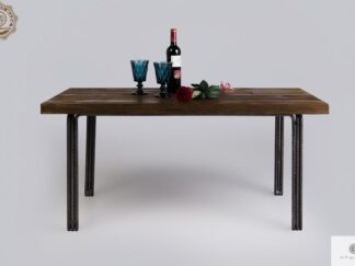 Wooden rustic coffee table of pine wood to living room HEGEL find us on https://www.facebook.com/RaWoodpl/