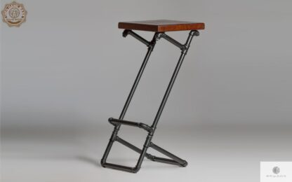 Modern wooden barstool on metal leg DENAR find us on https://www.facebook.com/RaWoodpl/