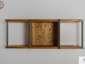 Rustic wall shelf of solid wood to living room HEGEL find us on https://www.facebook.com/RaWoodpl/
