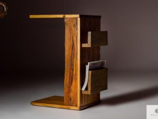 Side table of solid wood to living room rustic wood find us on https://www.facebook.com/RaWoodpl/
