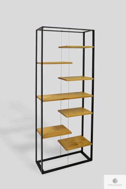 Bookcase of solid wood to office living room IBSEN