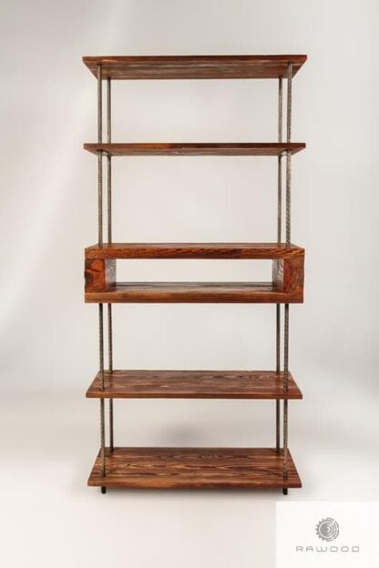 Industrial bookcase of solid wood to living room HEGEL Furniture Manufacturer RaWood Premium Furniture