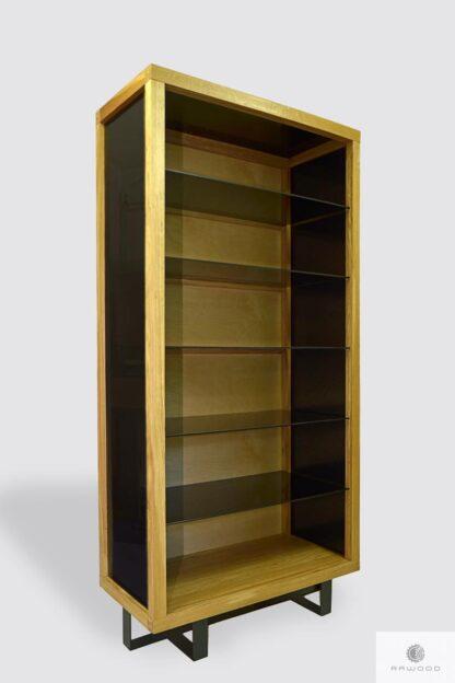 Industrial oak display cabinet to living room MOCCA