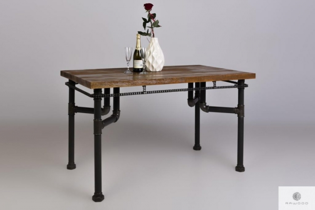 Industrial table of pine solid wood for living room VENTUR find us on https://www.facebook.com/RaWoodpl/