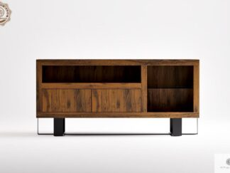 Cabinet under TV of oak solid wood to living room MOCCA