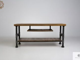 Industrial TV cabinet stand of solid wood to living room DENAR  find us on https://www.facebook.com/RaWoodpl/