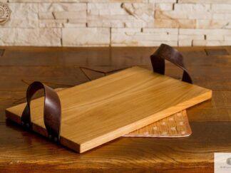 Taca z drewna litego do kuchni