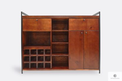 Wooden liquor cabinet to dining room