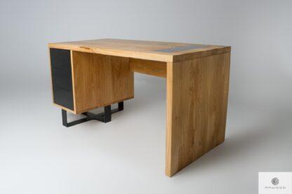 Desk of solid oak wood to office MOCCA