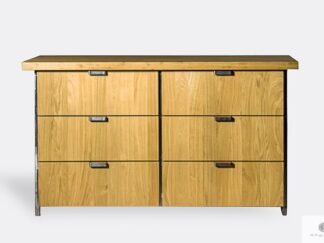 Oak dresser with drawers of solid wood to living room HUGON