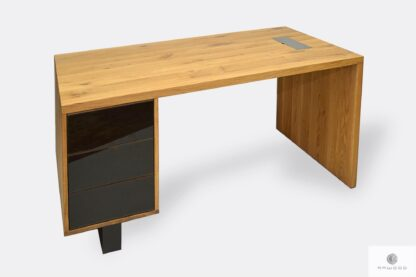 Oak office desk with drawers to office MOCCA