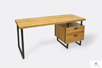 Oak office desk with drawers HUGON
