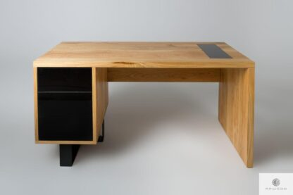 Oak office desk with drawers for size MOCCA