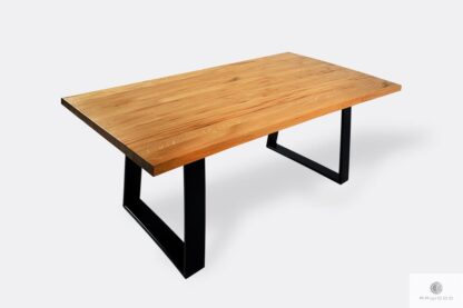 Table with natural oak tabletop SERSO