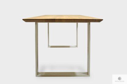 Modern oak table on metal legs for size BRITA