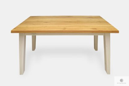 Oak table of natural solid wood to dining room BIANCO